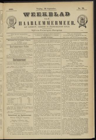 Weekblad van Haarlemmermeer 1884-09-26