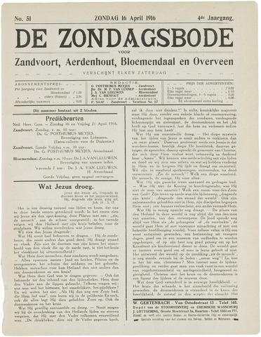 De Zondagsbode voor Zandvoort en Aerdenhout 1916-04-16