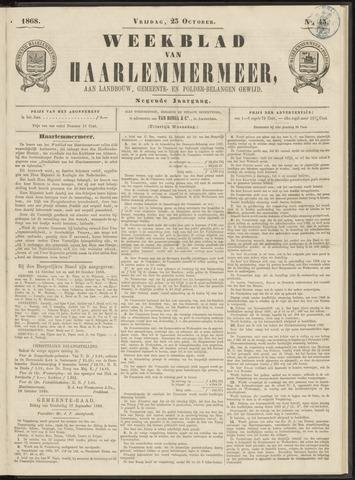 Weekblad van Haarlemmermeer 1868-10-23