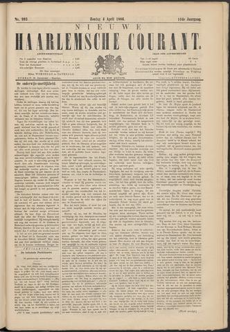 Nieuwe Haarlemsche Courant 1886-04-04