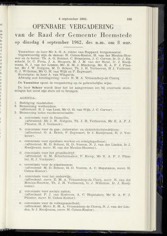 Raadsnotulen Heemstede 1962-09-04