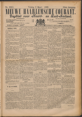 Nieuwe Haarlemsche Courant 1906-03-09
