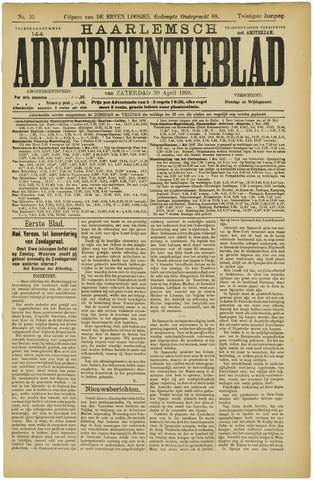 Haarlemsch Advertentieblad 1898-04-30