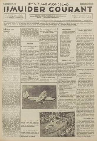 IJmuider Courant 1938-08-02