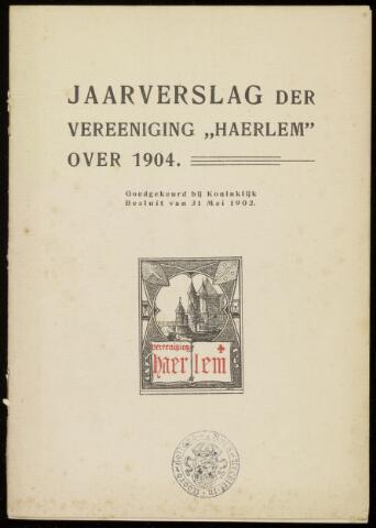 Jaarverslagen en Jaarboeken Vereniging Haerlem 1904