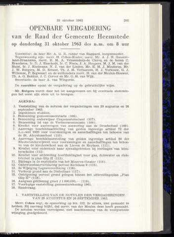 Raadsnotulen Heemstede 1963-10-31