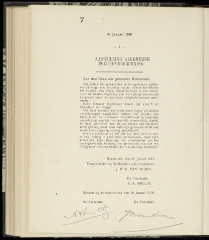 Raadsnotulen Heemstede 1918-01-30