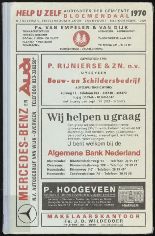 Adresboeken Bloemendaal 1970