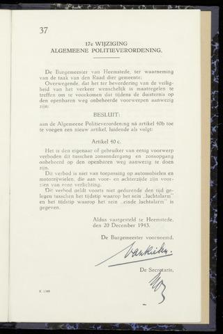 Raadsnotulen Heemstede 1943-12-20