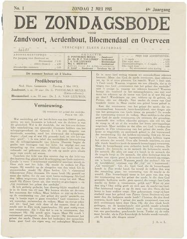 De Zondagsbode voor Zandvoort en Aerdenhout 1915-05-02