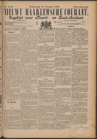 Nieuwe Haarlemsche Courant 1905-10-19