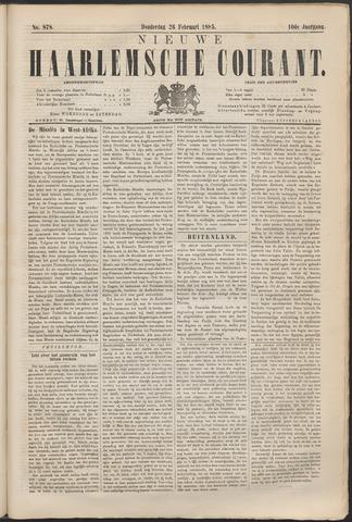 Nieuwe Haarlemsche Courant 1885-02-26