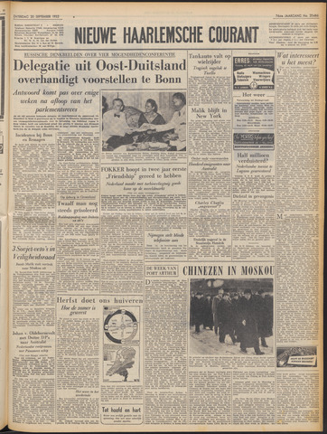 Nieuwe Haarlemsche Courant 1952-09-20