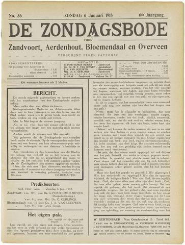 De Zondagsbode voor Zandvoort en Aerdenhout 1918