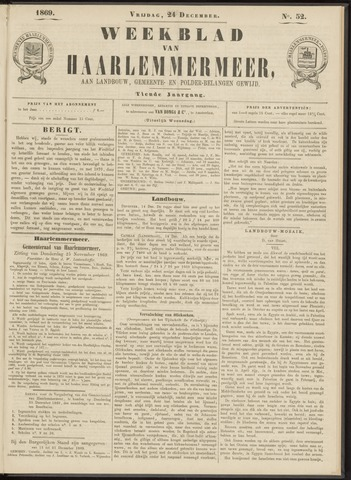 Weekblad van Haarlemmermeer 1869-12-24