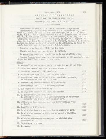Raadsnotulen Heemstede 1978-10-26
