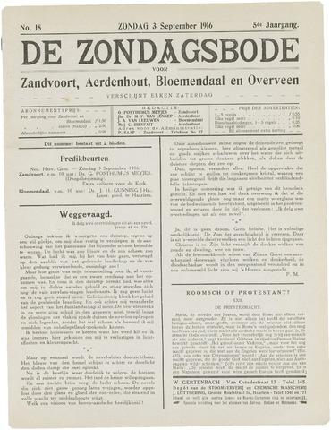 De Zondagsbode voor Zandvoort en Aerdenhout 1916-09-03