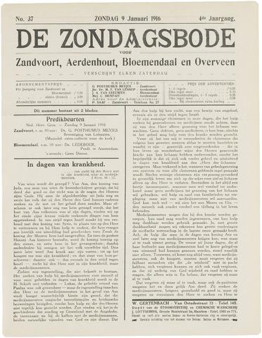 De Zondagsbode voor Zandvoort en Aerdenhout 1916-01-09