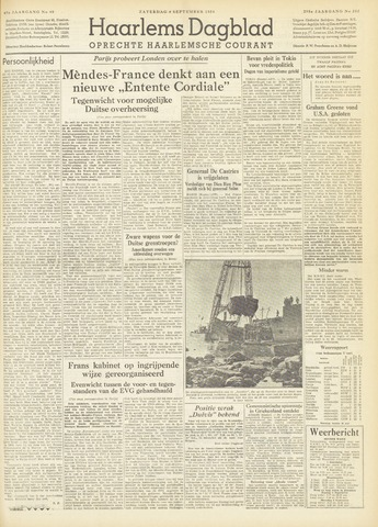 Haarlem's Dagblad 1954-09-04