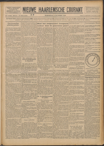 Nieuwe Haarlemsche Courant 1928-10-03
