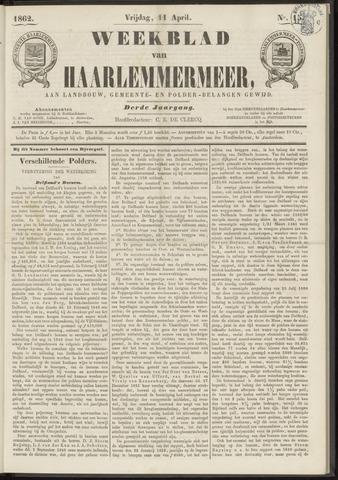 Weekblad van Haarlemmermeer 1862-04-11