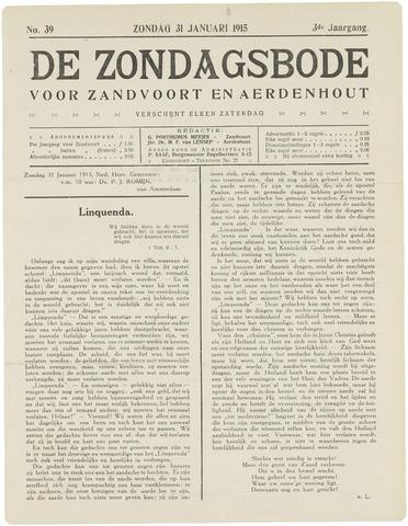 De Zondagsbode voor Zandvoort en Aerdenhout 1915-01-31