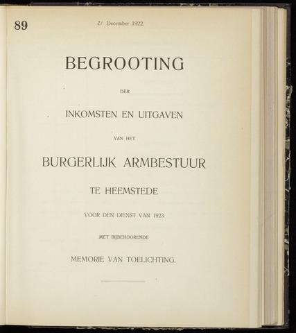 Raadsnotulen Heemstede 1922-12-21