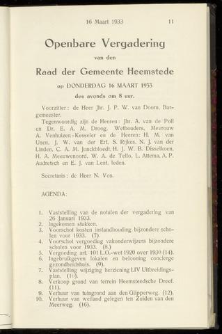 Raadsnotulen Heemstede 1933-03-16