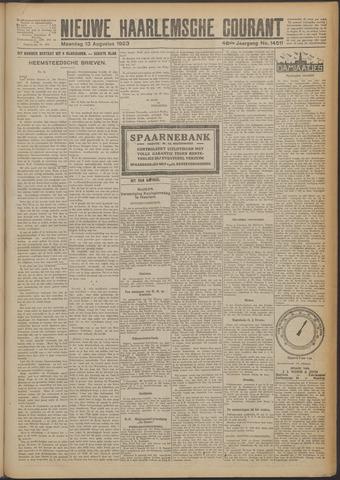 Nieuwe Haarlemsche Courant 1923-08-13