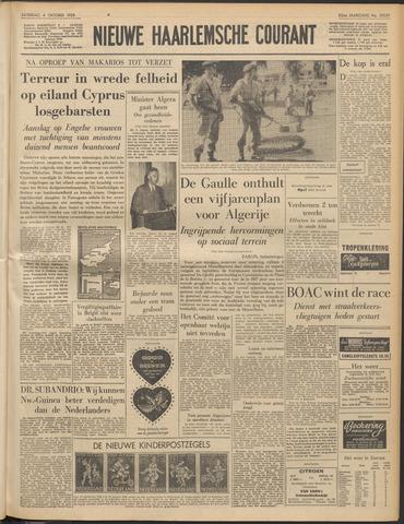 Nieuwe Haarlemsche Courant 1958-10-04