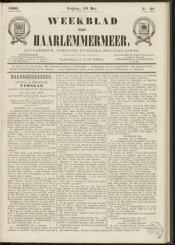 Weekblad van Haarlemmermeer 1860-05-18