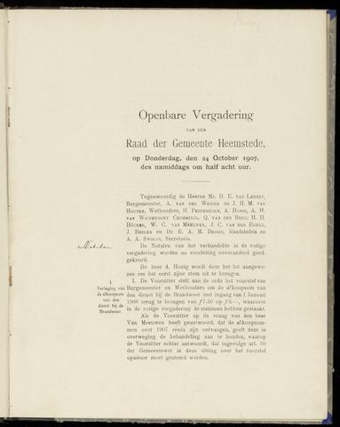 Raadsnotulen Heemstede 1907-10-24