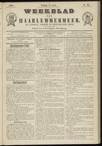 Weekblad van Haarlemmermeer 1881-04-08