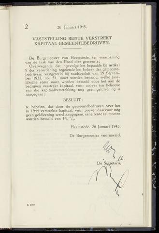 Raadsnotulen Heemstede 1945-01-26