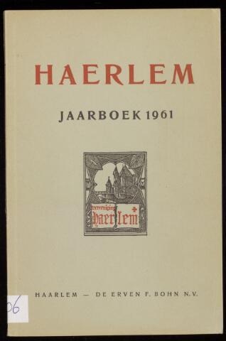 Jaarverslagen en Jaarboeken Vereniging Haerlem 1961