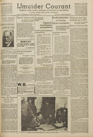 IJmuider Courant 1939-09-25