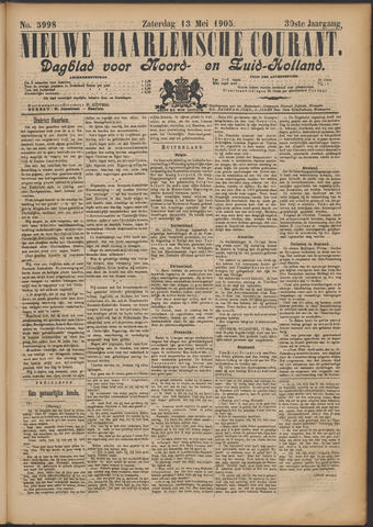 Nieuwe Haarlemsche Courant 1905-05-13