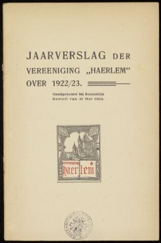 Jaarverslagen en Jaarboeken Vereniging Haerlem 1922