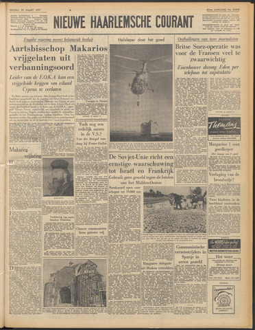 Nieuwe Haarlemsche Courant 1957-03-29
