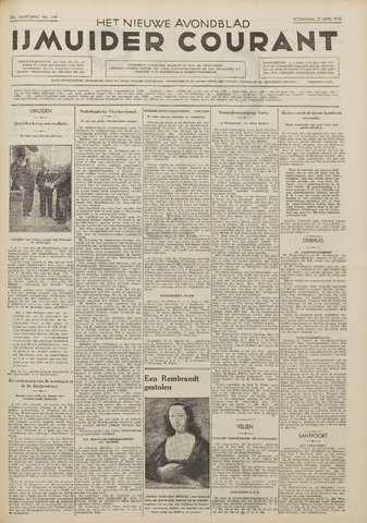 IJmuider Courant 1938-04-27