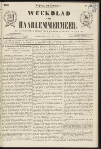 Weekblad van Haarlemmermeer 1861-11-22