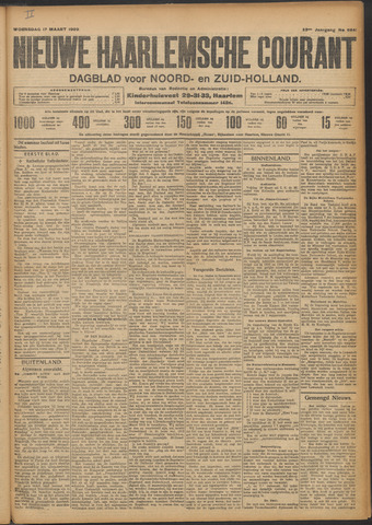 Nieuwe Haarlemsche Courant 1909-03-17