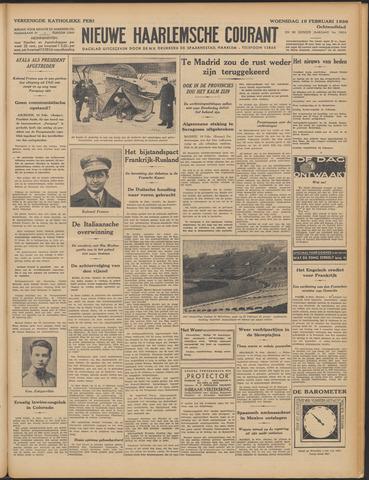 Nieuwe Haarlemsche Courant 1936-02-19