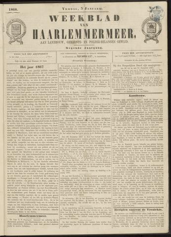 Weekblad van Haarlemmermeer 1868-01-03