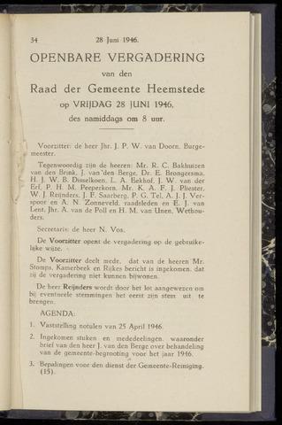 Raadsnotulen Heemstede 1946-06-28
