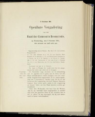 Raadsnotulen Heemstede 1911-10-05