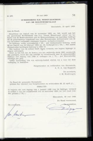 Raadsnotulen Heemstede 1969-05-29