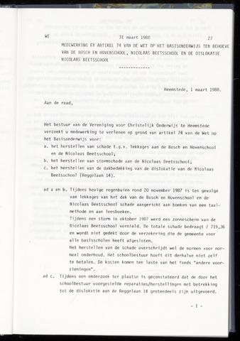Raadsnotulen Heemstede 1988-03-31