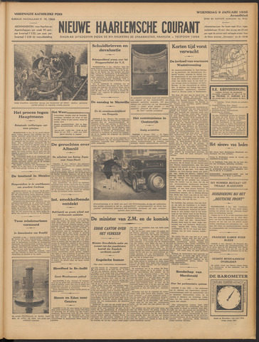 Nieuwe Haarlemsche Courant 1935-01-09