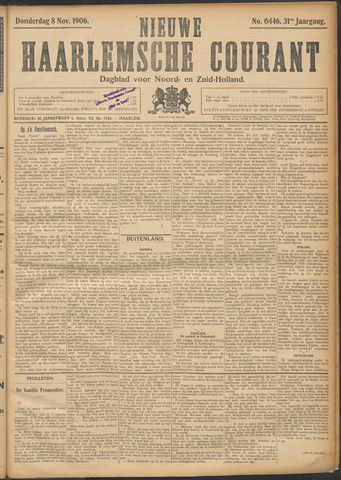 Nieuwe Haarlemsche Courant 1906-11-08